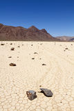 Racing rock in Death Valley Stock Image