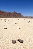 Racing rock in Death Valley Stock Image