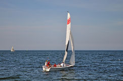 Racing sailboats Stock Photography