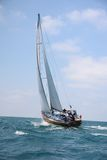 Racing sailing yachts Stock Photo