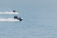 Racing in the sea Royalty Free Stock Photography
