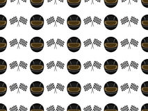 Racing Seamless Pattern 2 Black Royalty Free Stock Image