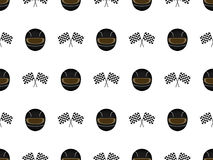 Racing Seamless Pattern 3 Black Stock Photos