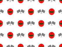Racing Seamless Pattern 3 Red Royalty Free Stock Images
