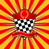 Racing_shield_04 Lizenzfreies Stockbild
