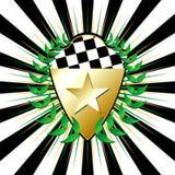 Racing shields Stock Image