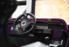 Racing simulator game. Stock Photo