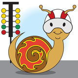 Racing Snail Royalty Free Stock Photography