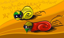 Racing snails Stock Photography