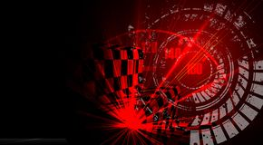 Racing speed background, vector illustration abstraction in car track stock illustration