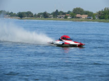 Racing Speed Boat Royalty Free Stock Images
