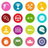 Racing speed icons many colors set. Isolated on white for digital marketing Stock Image