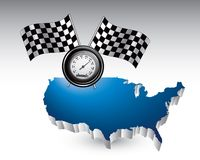 Racing speedometer across the USA Royalty Free Stock Images