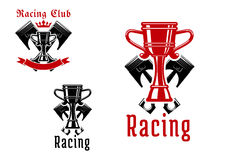 Racing sport club or competition icon design Royalty Free Stock Images