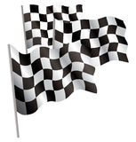 Racing-sport finish 3d flag. Vector illustration. Isolated on white Royalty Free Stock Photos