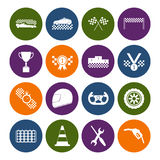 Racing Sport Icons Set. Vector Stock Photography