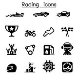 Racing sport icons Stock Photography
