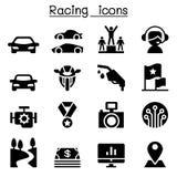 Racing Sport icons Stock Image