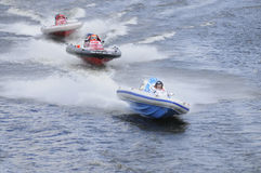 Racing of sports motorboats Stock Image