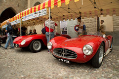 Racing spyders at Bergamo Historic Grand Prix 2015 Royalty Free Stock Image