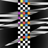 Racing square background. Vector abstraction in racing, chess style. Illustration for your design. royalty free illustration