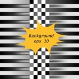 Racing square background. Vector abstraction in racing, chess style with space for your text. Illustration for your design. stock illustration
