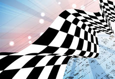 Racing square background, vector illustration  Stock Image
