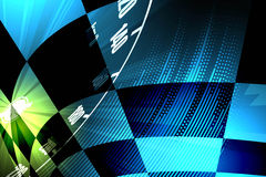 Racing square background, vector illustration abstraction in rac Royalty Free Stock Photos