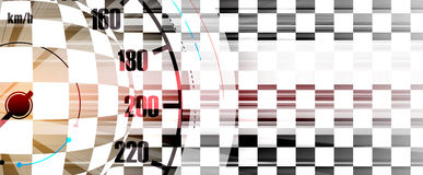 Racing square background, vector illustration abstraction in rac Stock Photo