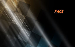 Racing square background, vector illustration abstraction in rac Stock Photos