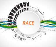 Racing square background, vector illustration abstraction in rac Royalty Free Stock Photography