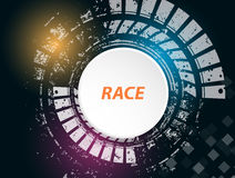 Racing square background, vector illustration abstraction in rac Stock Image