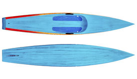 Racing stand up paddleboard isolated Royalty Free Stock Photo