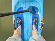 Racing stand up paddleboard Royalty Free Stock Photo