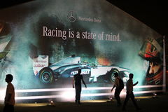 Racing is a state of mind - Mercedes Benz royalty free stock images