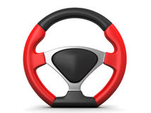 Racing steering wheel Stock Photo