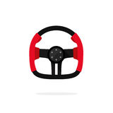 Racing steering wheel icon isolated, creative auto part logo, Stock Images