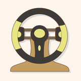 Racing steering wheel theme elements vector,eps Royalty Free Stock Photos
