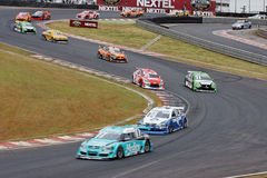 Racing Stock Cars in Interlagos Sao Paulo Brazil Royalty Free Stock Images