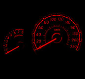 Racing style car speed meter 1 Stock Photos