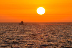 Racing with the sun. This image was taken in Dubai Jumeirah Beach Stock Photography