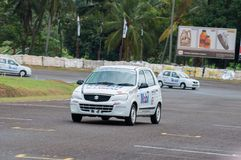Racing suzuki car in srilanka Royalty Free Stock Photos