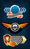 Racing Symbols And Icons Stock Images