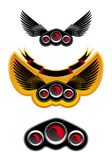 Racing symbols and icons royalty free stock images