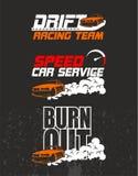 Racing team design t-shirt. Drift, speed, Burn out, cool design vector illustration