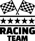 Racing Team with goal flags Royalty Free Stock Photo