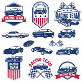 Racing team. set of the Cars icons . Royalty Free Stock Photo