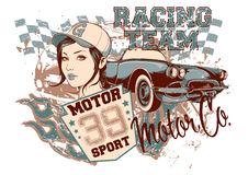 Racing team royalty free illustration