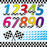 Racing theme design elements set Stock Photography