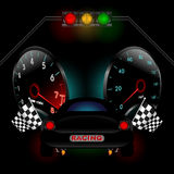 Racing theme with many objects. Vector Stock Photos